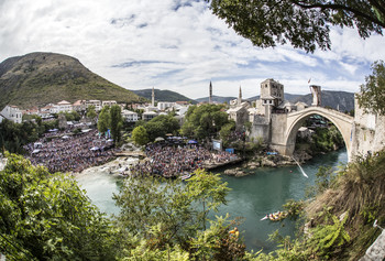 Red Bull Cliff Diving Mostar Bosnia